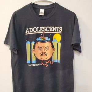 Adolescents La Vendetta Punk Rock Band Shirt Sz M